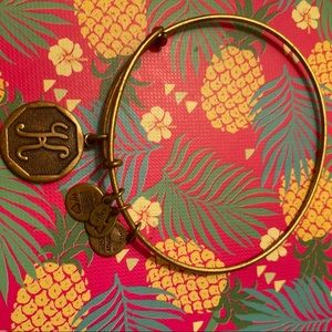 Alex and Ani K Bracelet Gold
